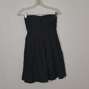 Black with white polka dots dress